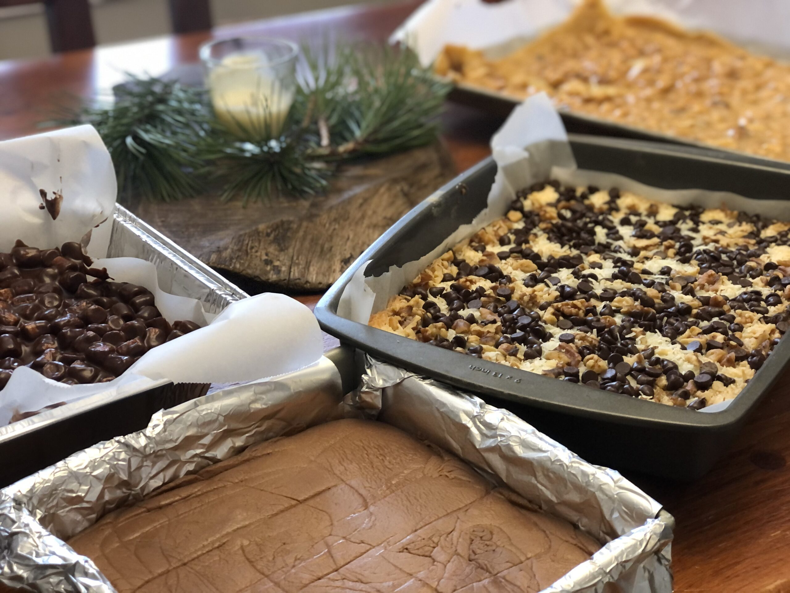 Fudge, Magic Cookie Bar, Peanut Brittle